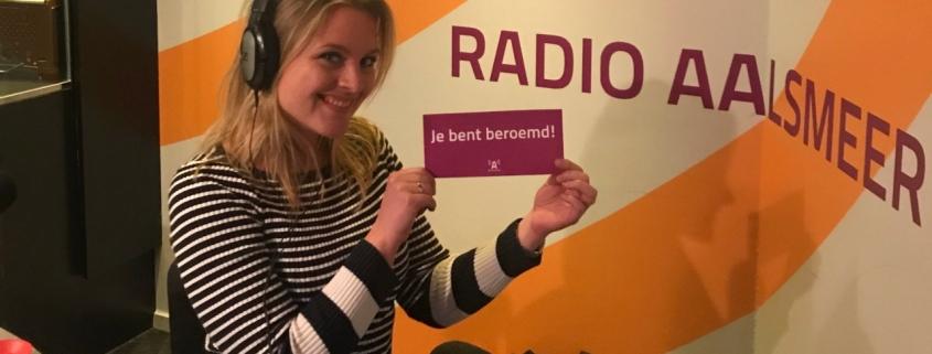 radio interview aalsmeer marije wielenga esther sparnaaij stralend presenteren